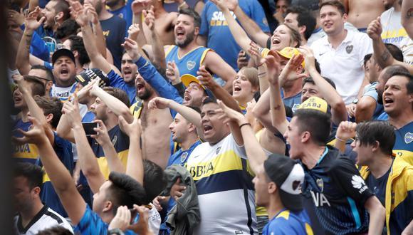 Fanáticos del Boca Juniors. (Foto: EFE).