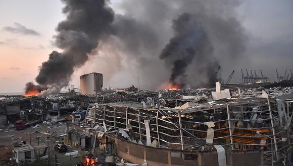 Unas 300,000 personas se han quedado sin casa en Beirut por la explosión. Foto: AFP / STR