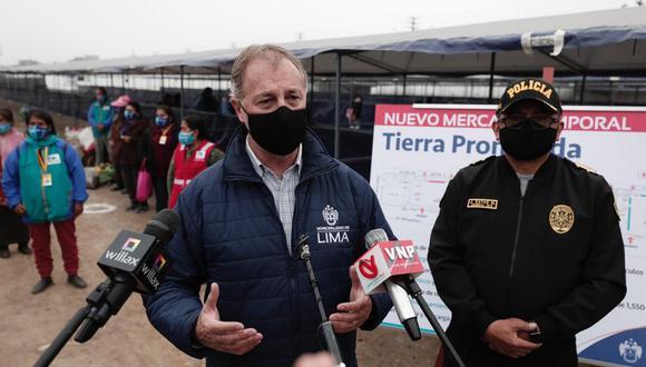 Incorporan al alcalde de Lima al grupo de apoyo a vacunación contra el COVID-19. (Foto: Ángela Ponce/GEC).