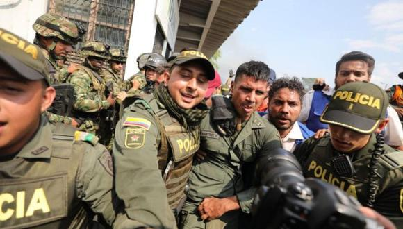 Los agentes que han abandonado Venezuela lo hacen en acatamiento de un llamado hecho por presidente encargado Juan Guaidó. (Foto: AP)