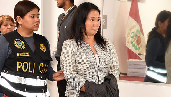 Keiko Fujimori cumple prisión preventiva por 36 meses, al ser investigada por el presunto delito de lavado de activos. (Foto: EFE)