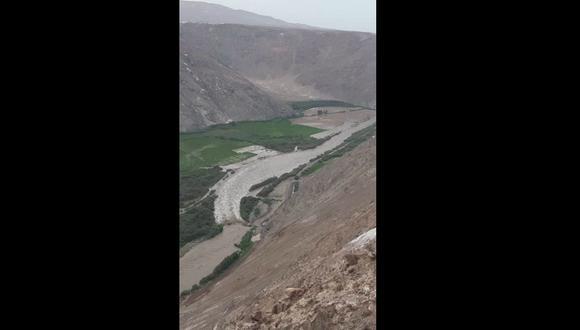 Alertan de posible desborde del río Camaná por incremento de su caudal debido a intensas lluvias