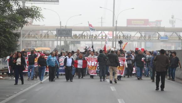 Este jueves se realiza la tercera marcha contra el peaje en Puente Piedra. (Foto: Referencial/GEC)