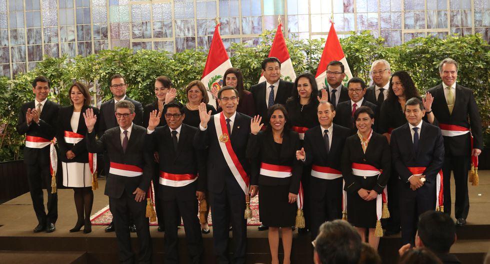 LIMA, 03 DE OCTUBRE DEL 2019CEREMONIA DE JURAMENTACION DEL NUEVO GABINETE MINISTERIAL DEL PREMIER VICENTE ZEBALLOSFOTOS: ROLLY REYNA / GEC