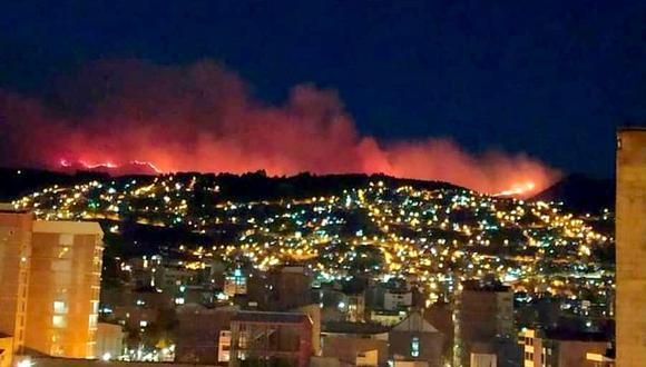 Cusco: la expansión de incendio se registró debido al abundante material combustible y la velocidad pronunciada y cambiante del viento. (Foto: Difusión)