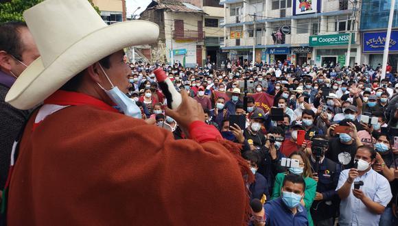 Pedro Castillo fue el candidato con más votos en primera vuelta. (Foto: GEC)