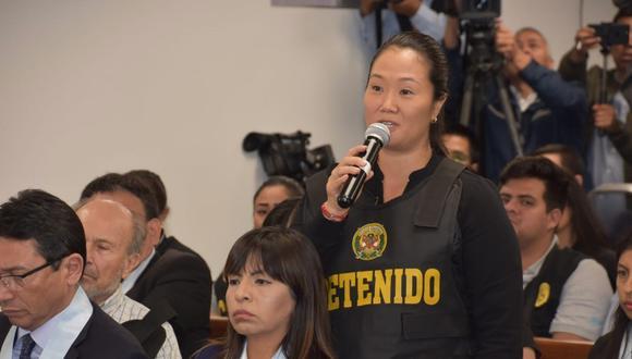 Keiko Fujimori detenida. (Foto: Poder Judicial)