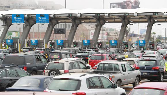 El consorcio Rutas de Lima informó a través de un comunicado que a partir del 20 de noviembre entrará en vigencia la nueva tarifa de S/ 5.50. (Foto: El Comercio)