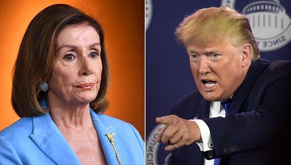 Nancy Pelosi pide iniciar la redacción de los cargos del juicio político a Donald Trump. (Foto: AFP/Producción)