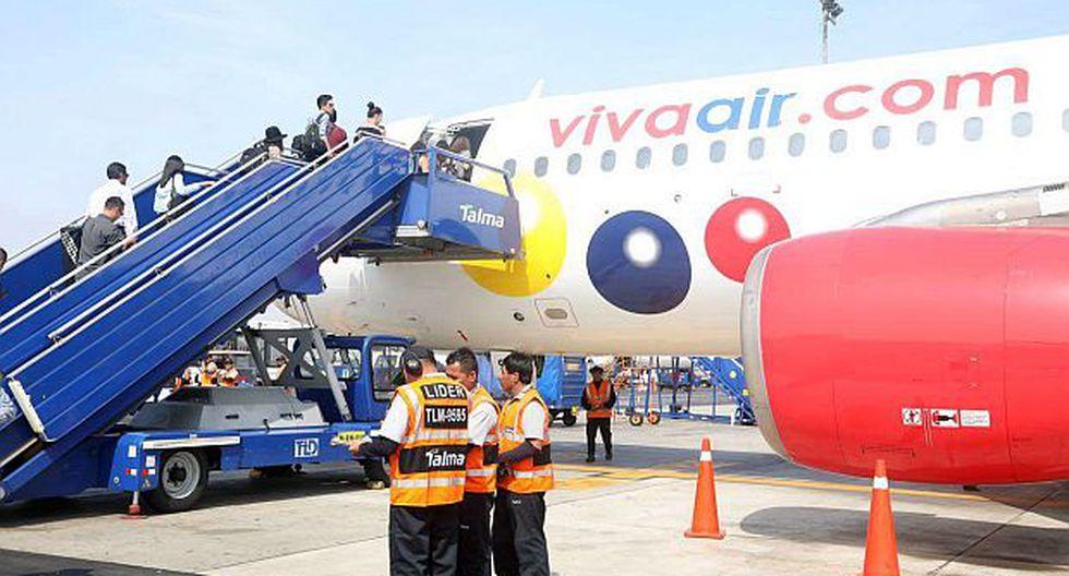 Viva Air Perú se ubicó como la segunda compañía aérea del mercado local al registrar una participación de12.67% al cierre del primer bimestre de 2019. (Foto: GEC)