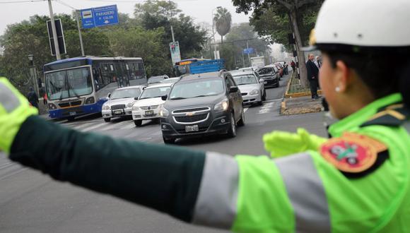 El sistema MTC Puntos busca mantener un registro de las infracciones de tránsito de los conductores. (Fuente. Andina)