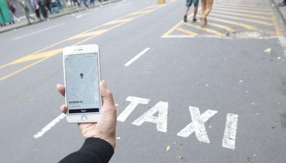 Taxi por aplicación. (Foto: USI)