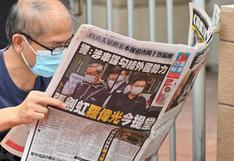 Diario prodemocracia de Hong Kong intervenido por autoridades dejará de publicarse a partir del viernes