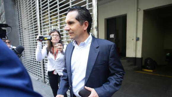 Gonzalo Andrade Nicoli declaró en la Fiscalía de Lavado de Activos por casi tres horas. (Foto: Jesús Saucedo)