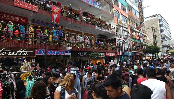 Gamarra es el mayor emporio comercial de confecciones del Perú. (Foto: GEC)