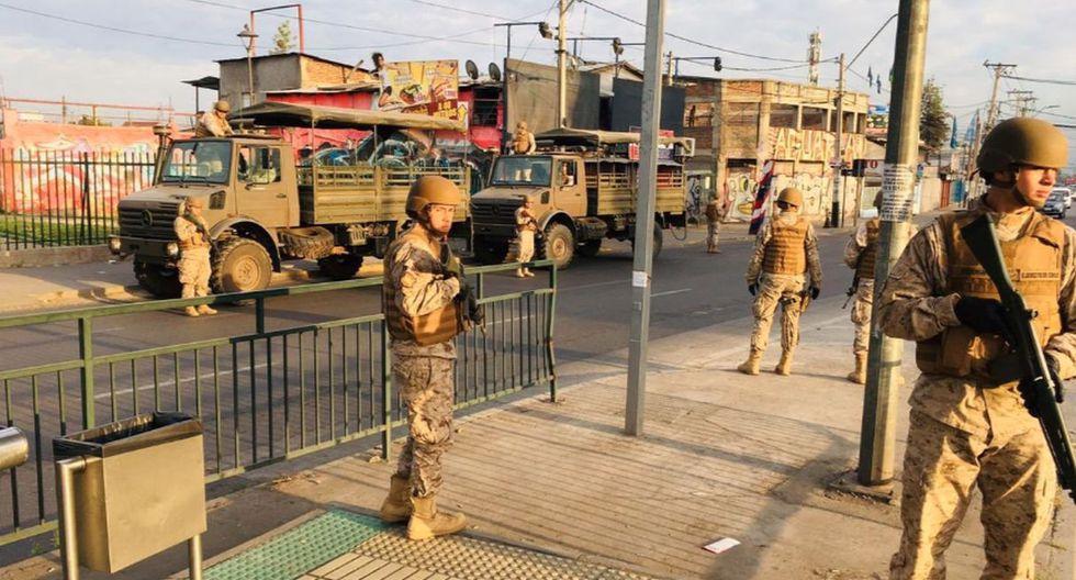 El estado de emergencia implica algunas restricciones a la libertad de locomoción y reunión por un máximo de 15 días. (Foto: Ejército de Chile)