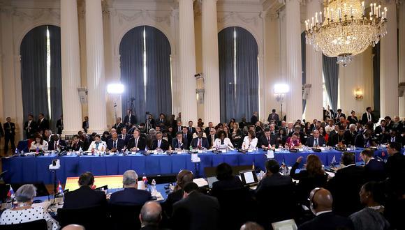 La resolución para aplicar la Carta Democrática a Venezuela fue aprobada por 19 votos contra 4. Once países se abstuvieron. (Foto: AFP)