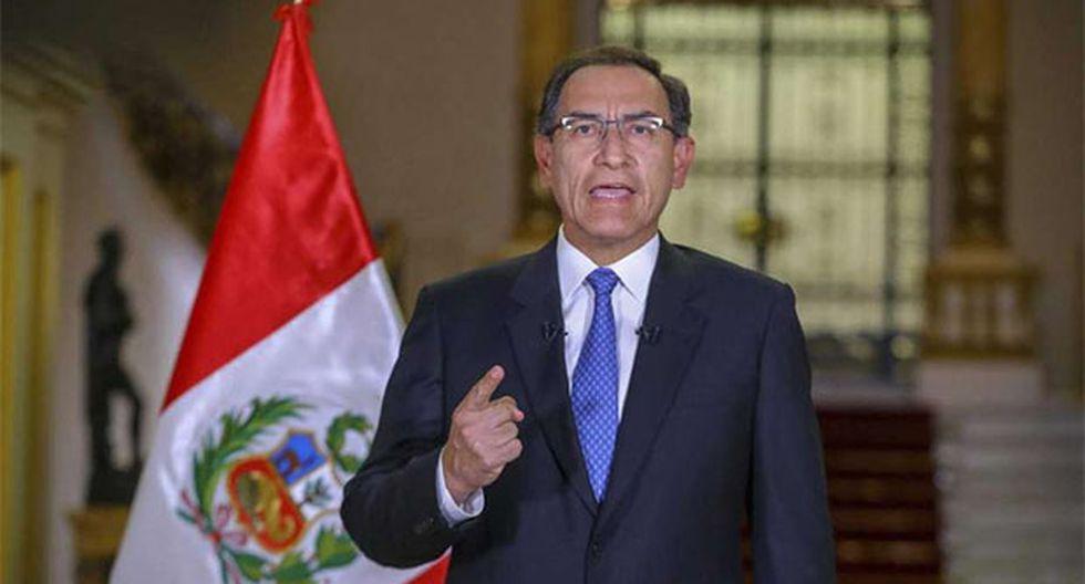 Presidente Martín Vizcarra felicitó a las autoridades electas en los comicios regionales y municipales. (Foto: Agencia Andina)