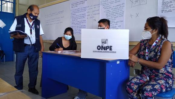 Las asistencia escalonada es una recomendación. La hora de votación va de 7 a.m. hasta las 7 p.m.  (Foto: ONPE)