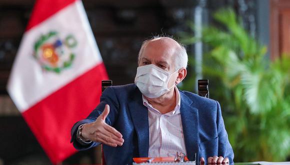 El jefe del Gabinete Ministerial, Pedro Cateriano, participará este lunes de la sesión virtual de la Comisión de Transportes y Comunicaciones. (Foto: PCM)