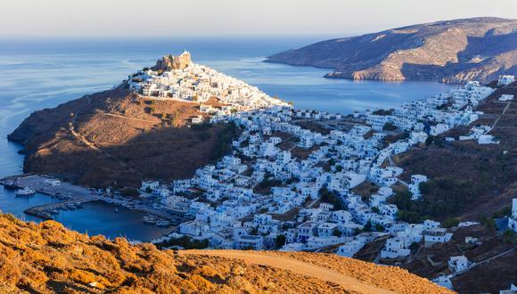 Vista panorámica de Astypalea, Grecia.